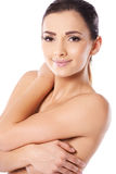 Beautiful woman posing topless Stock Images