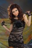 Beautiful woman positive exposure Stock Photos