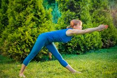 Beautiful woman practicing fitness or yoga Stock Image