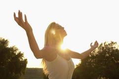 Beautiful Woman Practicing Yoga Royalty Free Stock Photography