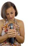 Beautiful woman praying Stock Photos