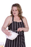 Beautiful Woman Preparing Food Royalty Free Stock Photo