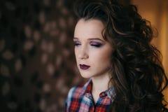 Beautiful woman with professional make up Stock Image
