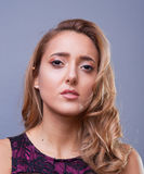 Beautiful woman with professional make up Stock Photography