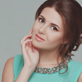 Beautiful woman with professional make up Royalty Free Stock Photos