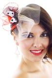 Beautiful woman with professional makeup Stock Photography