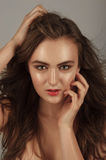 Beautiful woman with professional makeup Royalty Free Stock Images