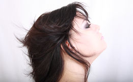 Beautiful woman in profile Stock Photography