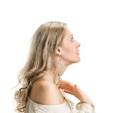 Beautiful woman in profile Royalty Free Stock Photography