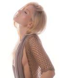 Beautiful Woman in Profile Stock Photo