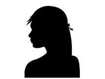 Beautiful woman profile silhouette stock illustration