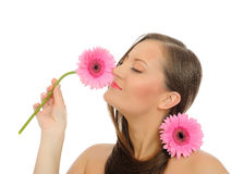 Beautiful woman with pure healthy skin Stock Photos