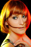 Beautiful woman with pure skin and stylish haircut Royalty Free Stock Photography