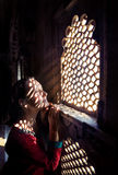 Beautiful woman in Rajasthan City Palace Stock Image