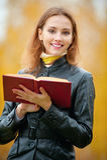 Beautiful woman reading a book. Stock Image
