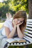 Beautiful woman reading Stock Photo