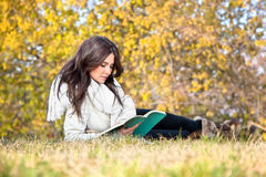 Beautiful woman reading the books Royalty Free Stock Photography