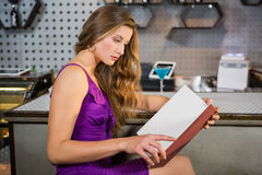 Free Beautiful Woman Reading The Menu Royalty Free Stock Images - 78711229