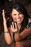 Beautiful Woman Receiving Call or Text Stock Photos