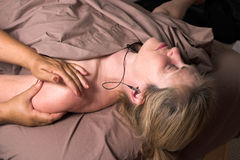 Beautiful Woman Receiving Massage 27 Royalty Free Stock Photography