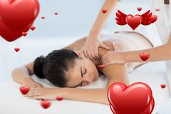 Beautiful woman receiving spa massage Royalty Free Stock Photography