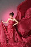 Beautiful woman in red Royalty Free Stock Photography