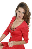 Beautiful Woman In Red Dress 5 Royalty Free Stock Images