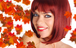 Beautiful  woman with red hair Royalty Free Stock Photo