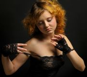Beautiful woman with red hair. Stock Photos