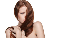 Beautiful woman with red hair Stock Photography