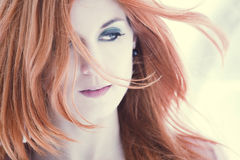 Beautiful woman with red hair Royalty Free Stock Photos