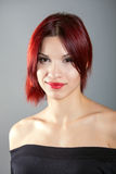 Beautiful woman with red hair. Portrait of beautiful woman with red hair royalty free stock photo