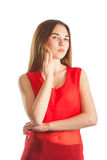 Beautiful woman in red Royalty Free Stock Photos