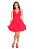 Beautiful woman in red summer dress Royalty Free Stock Image