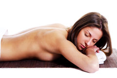 Beautiful woman in relax Royalty Free Stock Image