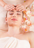 Beautiful woman relax in spa royalty free stock photos