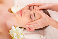 Beautiful woman relax in spa stock photos