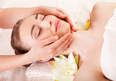 Beautiful woman relax in spa royalty free stock image