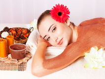 Beautiful woman relax in spa royalty free stock images
