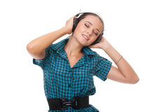 Beautiful woman relaxation listening music Stock Images