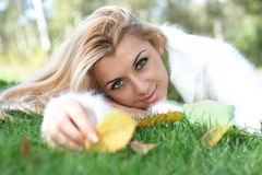 Beautiful woman relaxing Royalty Free Stock Photography