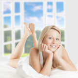 Beautiful woman relaxing Stock Photography