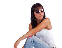 Beautiful woman relaxing Stock Image