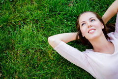 Beautiful woman relaxing Royalty Free Stock Image