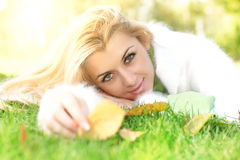 Beautiful woman relaxing Stock Photos