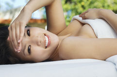 Beautiful Woman Relaxing Royalty Free Stock Photo