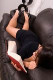 Beautiful woman relaxing. Royalty Free Stock Images