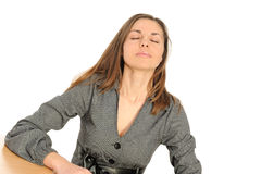 The beautiful woman in a relaxing actions Stock Photos