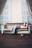 Beautiful Woman Relaxing Royalty Free Stock Photos