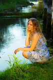 Beautiful woman relaxing on nature Stock Image